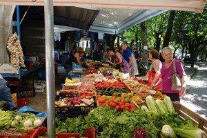 Market in Cortona Tuscany